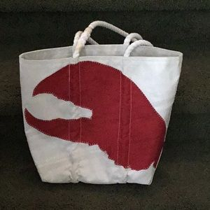 Sea bags Maine Lobster claw tote bag